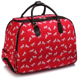 Cestovní taška s kolečky Ashley Horse Červená